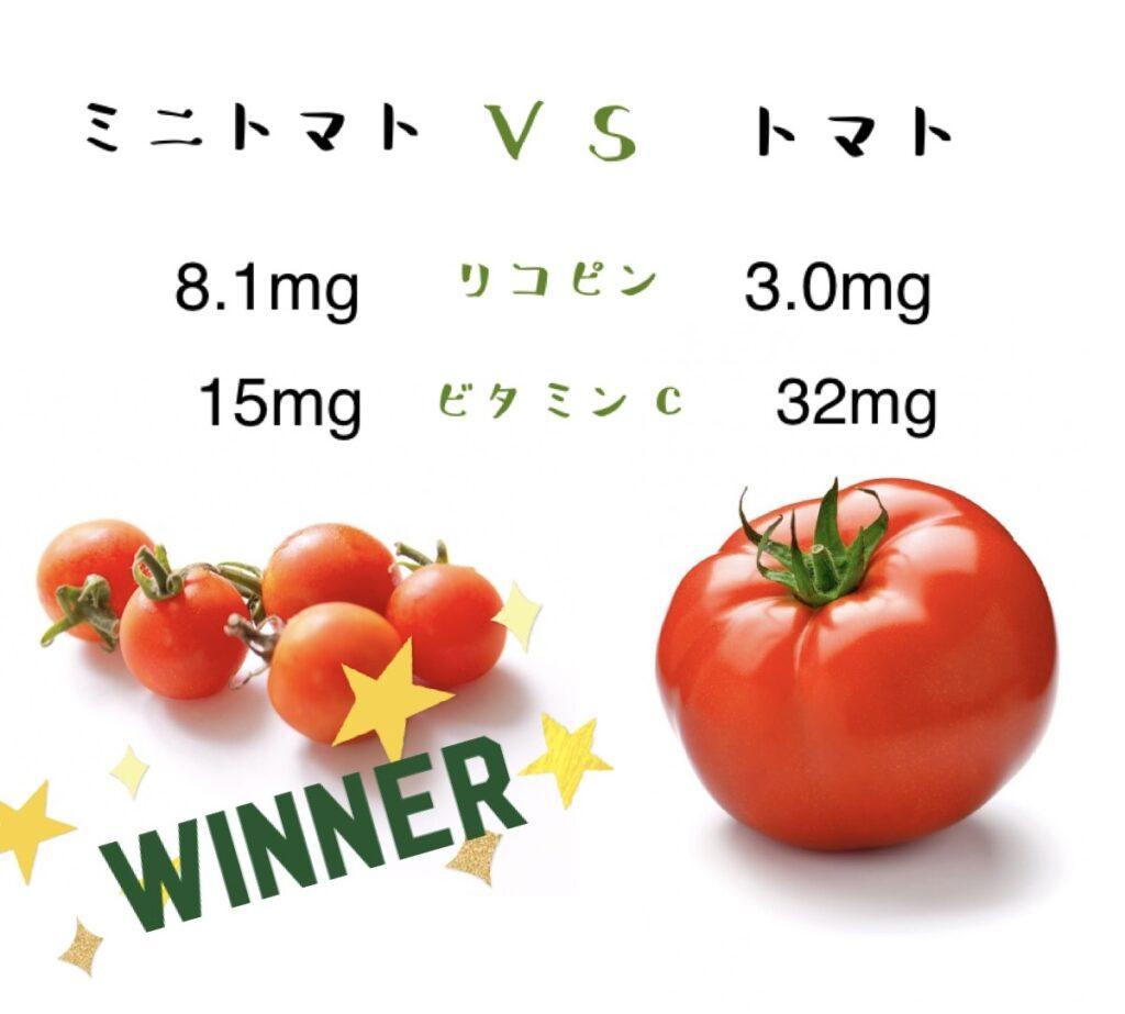 ミニトマトとトマトどちらが栄養があるのか