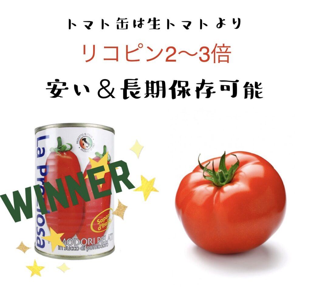 トマト缶と生トマトの比較