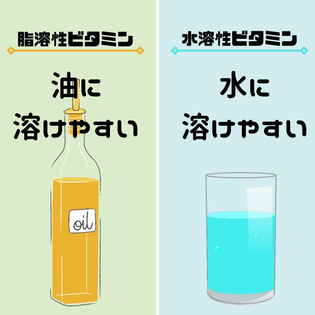 水溶性と脂溶性の特性
